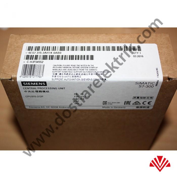 6ES7315 2AH14 0AB0 Simatic S7 300 CPU 315 2DP SIEMENS